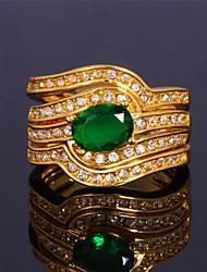 topgold trois couche bague de diamant match de luxe