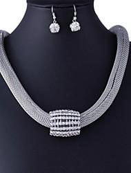 alliage europe ensemble de bijoux ronde des femmes (y compris les colliers boucles d'oreilles)