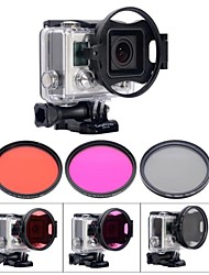 Fat Cat Flip 58mm Professional Underwater Color-Correction Red +Magenta Dive Filter + CPL for GoPro Hero3+