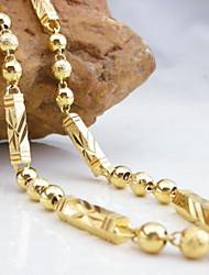 18k vergoldete Kupfer Halskette 50cm