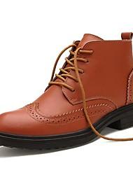 Men's Shoes Casual Leather Boots Black/Brown/Orange
