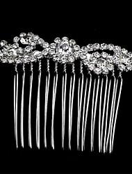 moda ródio pentes de cabelo de cristal chapeamento de casamento / festa de Miss mulheres Ricy