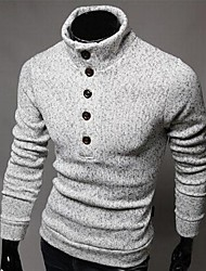 Manlodi Men's Single Button  Knitwear Pullover