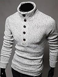 único botão pullover malhas dos homens manlodi