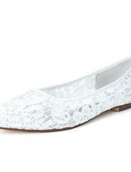 Women's Spring Summer Fall Lace Wedding Party & Evening Flat Heel Black Pink Ivory White