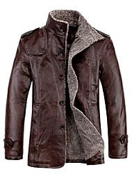 homens casaco de couro da moda gxxg