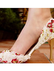Women's Wedding Shoes Peep Toe Sandals Wedding/Dress/Party & Evening Black/Pink/Red/White/Multi-color