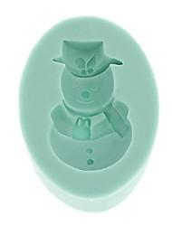 "nieve bebé forma de chocolate 3d de silicona silicio molde entrega al azar, 2.1 ""* 3.4"" * 0.6 """