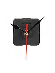 Clock Movement Mechanism with Black Hour Minute Red Second Hand DIY Tools Kit