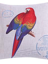 multi-colorido padrão papagaio fronha de poliéster