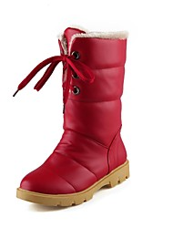 Women's Shoes Snow Boots Low Heel  Mid-Calf Boots with Lace-up More Colors available