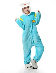 Adventure Time Kigurumi Pajamas Finn/Jake Kigurumi Flannel Pajamas Animal Cartoon Sleepwear  Halloween Costume