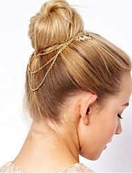 Joker Leaf Chain Tassel Combs Hair Accessories