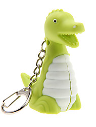 Key Chain Dinosaur Lovely / Fashion Key Chain / LED Lighting / Sound Rainbow Plastic