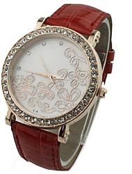 JINI  women pattern diamond multicolor Leather Strap Watch