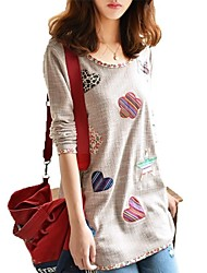 Women's Casual Fashion Floral Print Piping Detail T-Shirt