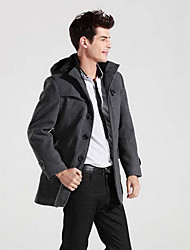 FAZO Korean Style Warm Fleece Coat(Black,Gray)