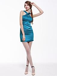 vestido sin espalda bodycon delantera cruzada cuello halter cubierto de la mujer joannekitten®