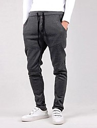 Men's Mid Rise Active Sweatpants Pants,Simple Active Slim Loose Solid