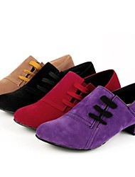 Modern Women's Heels Low Heel Suede with Lace-ups Dance Shoes(More Colors)