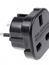 UK to EU AC Power Travel Plug Adapter Socket Converter 10A/16A 240V