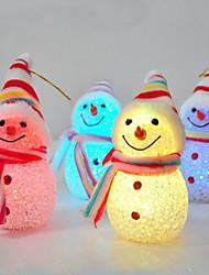 levou boneco de neve luz de natal decoração