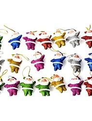 carino bambola lucido Babbo Natale decorativo per Natale - multicolore 20 pz