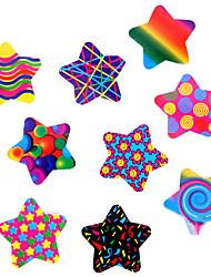 100pcs estrellas coloridas pegatinas adhesivas