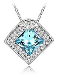 colar curto romântico revestida com 18k platina verdade aquamarine cristalizado strass cristal austríaco