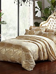 Manmer Duvet Cover Set The High End Luxury Satin Jacquard Silk Bedding And Court Wind Full