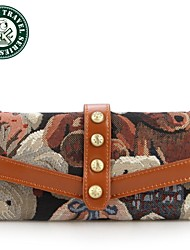 DAKA BEAR® Lady Knitting Coffee Fashion Clutch Purse Camouflage Brown