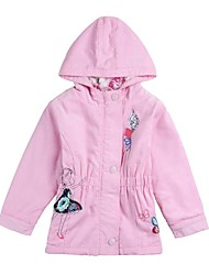 Girl's Cotton Trench Coat , Winter/Spring/Fall Long Sleeve