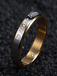 Everlasting love steel ring female models