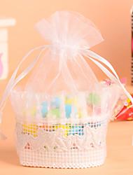 simples favor branco cesta rendas doces bag-conjunto de 12