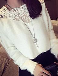 Damenmode Mohair Spitzen Nähen Pullover Pullover (mehr Farben)