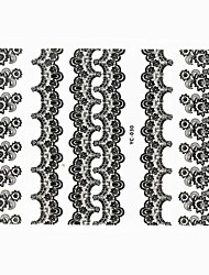 Lovely Nail Art Stickers Decals Wedding Lace Series Nail Accessory for Acrylic Nail Tips DIY Nail Art DecorationsNO.030