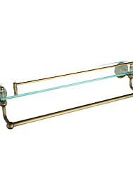 Single Bathroom Shelves,Antique Brass Color Aluminium Material,Bathroom Accessory