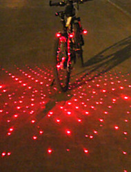 UNGROL Bike Light Red Babysbreath Design 1 Laser Module 6 LED 6 Flash Mode Black Bike Warning Laser Light