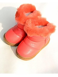 Boy's / Girl's Boots Winter Comfort Synthetic Casual Flat Heel Brown / Pink / Coral