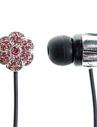 moda stile del fiore gemma in-ear auricolari per iphone iphone 6 6 più