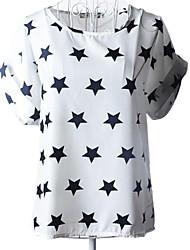 Camisa (Raso) Casual/Con Estampado - Regular - Fino de Manga Corta