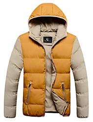 Jianda мужской корейский тепловой балахон пальто