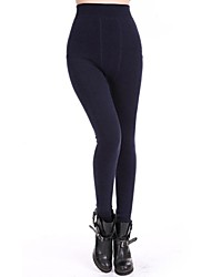 morbido inverno sottile corpo pantaloni caldi delle donne