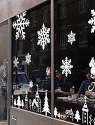 "Merry Christmas Silent City Landscape Window Sticker (70.8""W × 39.36""L)"