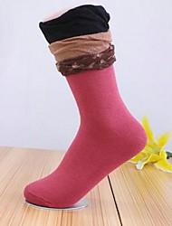 Retro meias estilo étnico das 5pairs mulheres (cor aleatória de colocação)