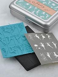 étain boîte fée plastique bricolage joint mousse timbre ensemble