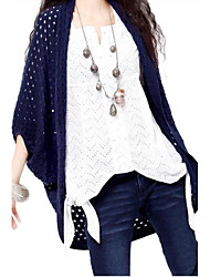 Women's Blue/Red/Brown Cardigan , Casual ¾ Sleeve