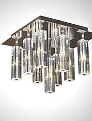 cristallo moderna incasso g4 9 luce in acciaio inox cristallo k9