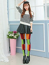 Women's Fashion Patches of Mixed Colors Plus Velvet Cashmere Step on the Foot Leggings