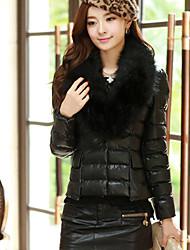 Zeagoo Women's Elegant Fur Collar Thermal Coat